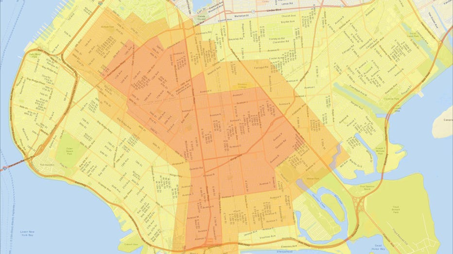 Gov. Cuomo shared this map of the COVID cluster in Brooklyn.