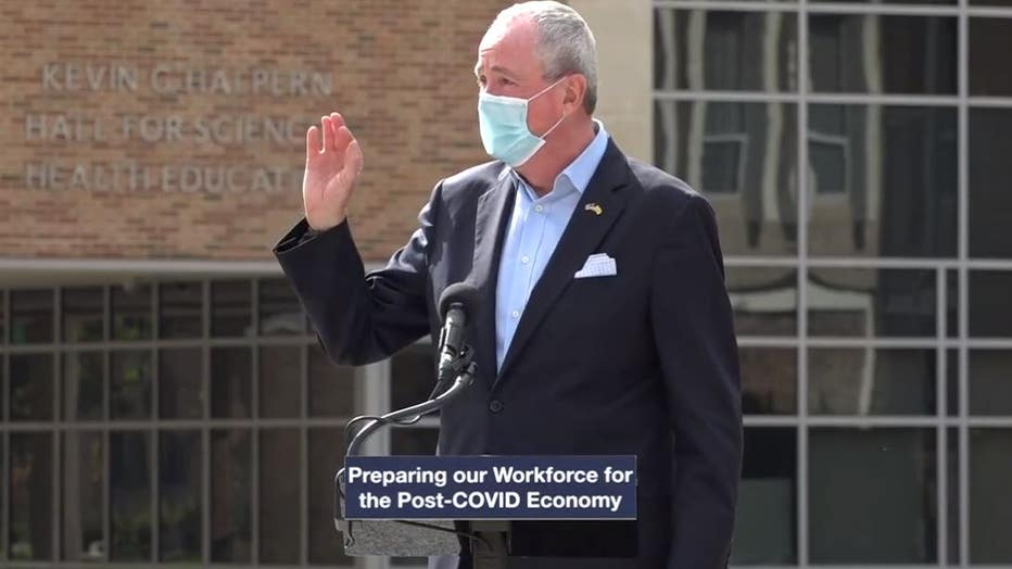NJ Gov. Phil Murphy to quarantine for 14 days after contact tests positive for COVID-19.