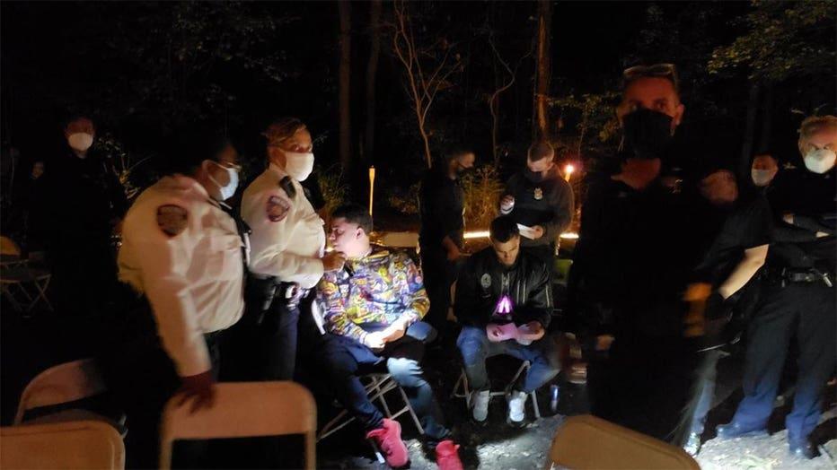  Deputy Sheriffs shut down an illegal rave inside Cunningham Park, Queens. (Credit: @NYCSHERIFF) 