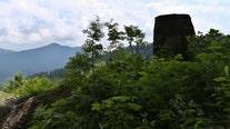 Giant phallus statue on mountain vanishes