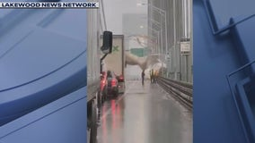 Heavy rains, strong winds hit New York area