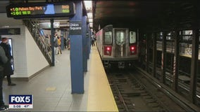 Man arrested after pushing woman in front of subway train in Manhattan