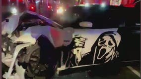 Three hospitalized after speeding vehicle strikes Uber, police say