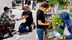 New York couple has given 10,000 backpacks, 200 gallons of sanitizer to homeless during pandemic