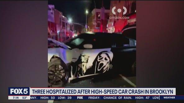 3 hospitalized in Brooklyn crash