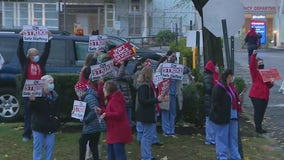 Nurses demanding better pay, more staffing strike at New Rochelle hospital