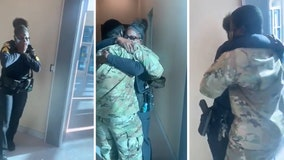 Army son surprises St. Pete police sergeant with holiday homecoming