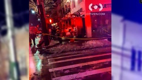 Six hurt after fire engine smashes into Brooklyn store