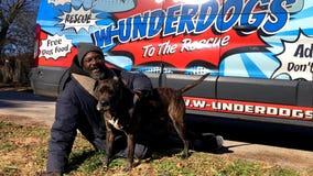 Homeless man runs into burning animal shelter, saving all animals inside