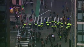 Car hits protesters in Manhattan