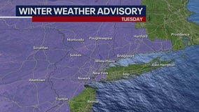 Icy conditions expected in New York area Tuesday