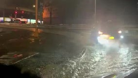 Water main break floods Cross Bronx Expressway