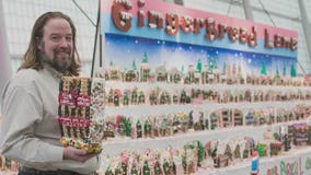 Gingerbread house artist gets back to work New Year's Day
