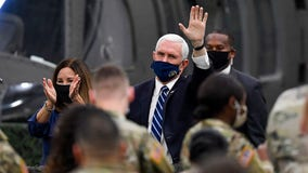 Vice President Mike Pence thanks troops at Fort Drum
