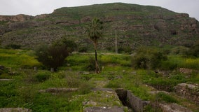 Ruins of an early mosque found by the Sea of Galilee