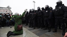 3,000 arrested at protests in Russia demanding Navalny's release