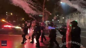 Portland police declare riot as city's unrest carries into new year