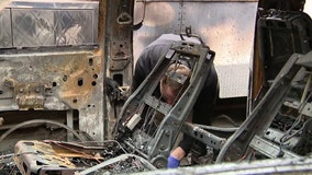 Salvation Army vehicles burned overnight in Harlem