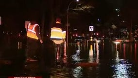 Massive water main break floods cars near Queensbridge Houses