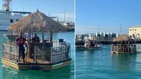 Coast Guard: Intoxicated suspect arrested in stolen tiki hut boat off Florida Keys