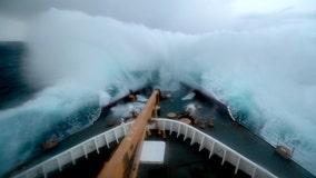 U.S. military icebreaker patrolling polar region