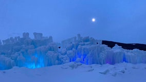 'Unbelievably beautiful': Giant ice castles light up in Colorado