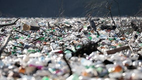 Islands of garbage clog rivers, threaten dam in the Balkans