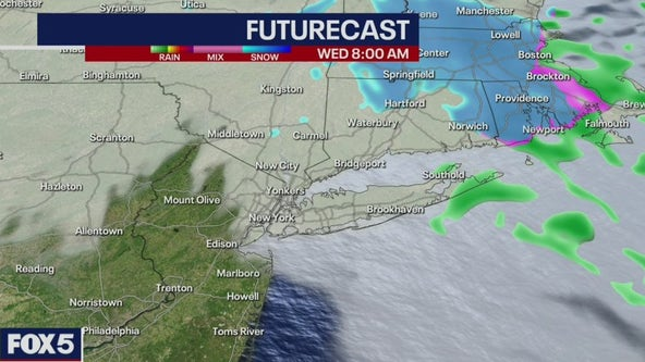 Icy conditions in New York area Tuesday into Wednesday