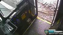 Man throws liquid on bus driver