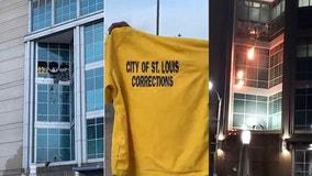 Inmates set fires, break windows at St. Louis jail, officials say
