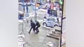 Violent assault on police officer outside Bronx station