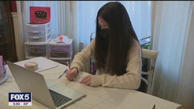 New York teen holds virtual art classes for kids in shelters