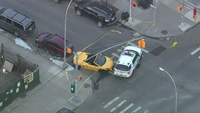 Lamborghini crashes in Queens after taking off from police