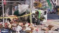 Manhattan van crash