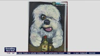 Dog painting stolen
