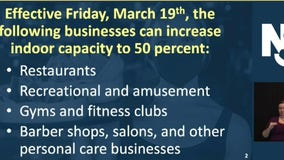 NJ increases indoor capacity limit for some venues to 50% beginning Mar. 19