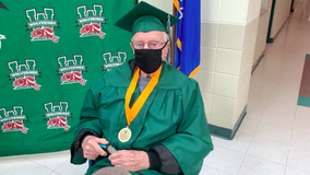 WWII vet gets surprise high school graduation 77 years later