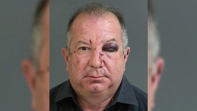 Bystander punches man in face who was allegedly strangling girlfriend at bowling alley