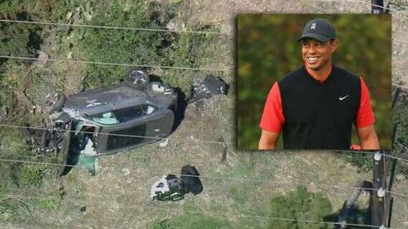 LA County sheriff's investigators issue warrant for black box in Tiger Woods crash