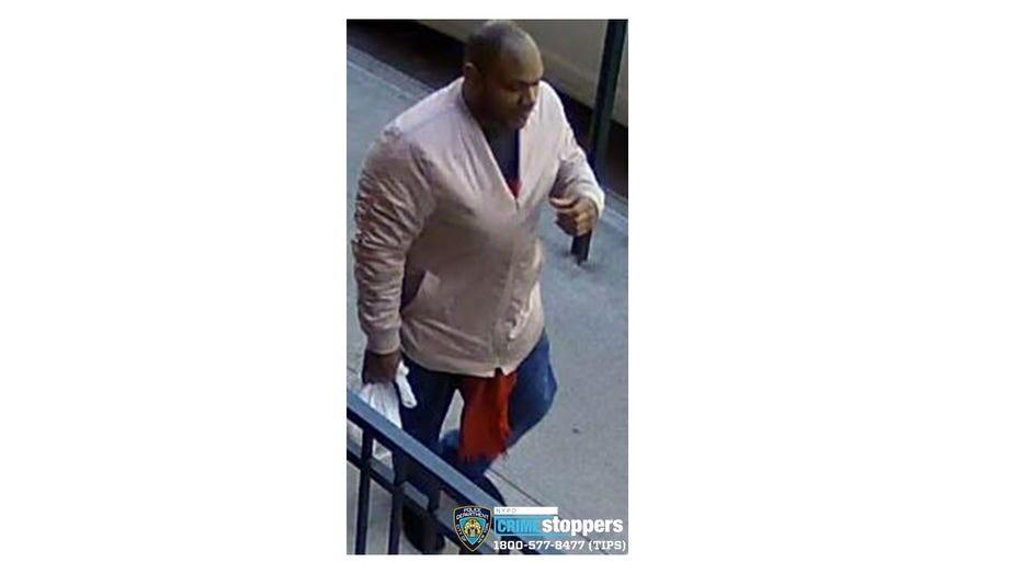 The NYPD wants to find the man seen in this photo. He kicked and stomped on the head of an Asian woman in Hell's Kitchen.