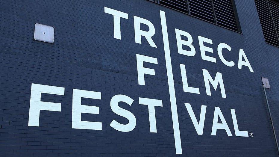 NEW YORK - APRIL 15: Tribeca Film Festival signage in Tribeca in New York, New York on April 15, 2016.
