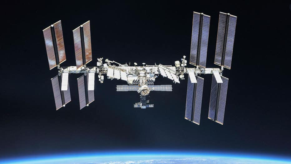 The International Space Station is pictured orbiting Earth in October of 2018. (Photo credit: NASA)