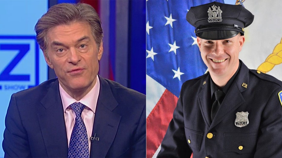 Dr. Oz (left) and Officer Jeffrey Croissant (right).