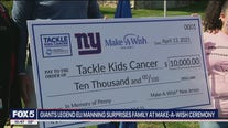 Eli Manning helps surprise Make-A-Wish family