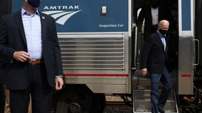 All aboard! Biden visits Philadelphia to help Amtrak mark 50 years on the rails