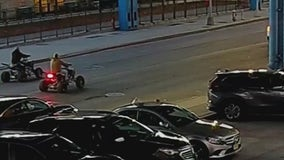 Bullets fly as gunmen on ATVs exchange fire with suspect on street