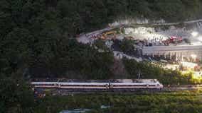 Truck knocks train off tracks in Taiwan, killing at least 48