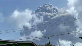 Volcano eruption in Caribbean prompts mass evacuation during popular vacation week
