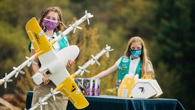 Girl Scouts use drones to deliver cookies