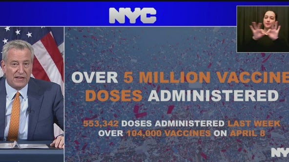 Vaccination hub for theater, film, TV, radio workers opens as NYC reaches milestone